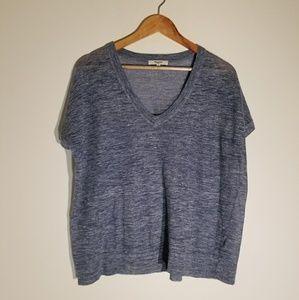 Madewell by J. Crew v-neck tunic blue medium